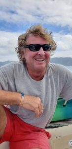 MP Miles. Relaxed at work chartering in the Virgin Islands
