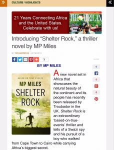 The African Promotes Shelter Rock by MP Miles